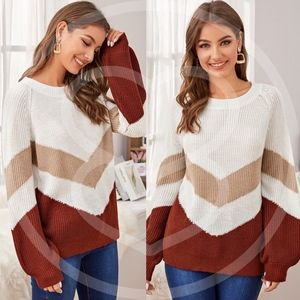 AMMIE Color Block Knit Sweater
